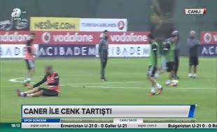 Beşiktaş antrenmanında olay