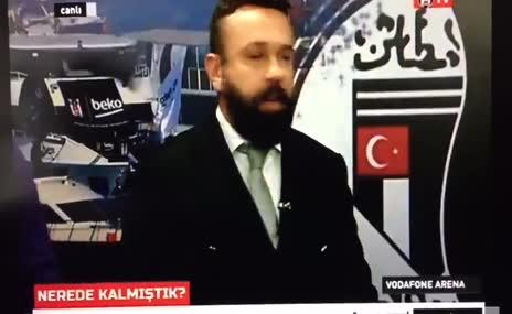 Patlama anı Beşiktaş Tv canlı yayınına böyle yansıdı!