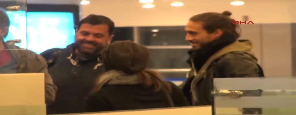 Martin Caceres Trabzonspor için İstanbul'da