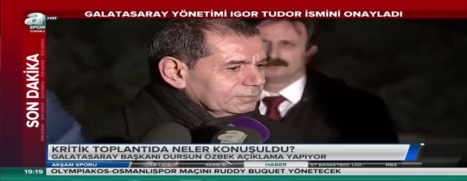 """Dursun Özbek: """"Riekerink ile yollarımızı ayırdık"""""""