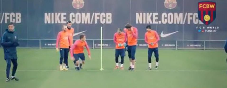 Barcelona'dan yine görülmemiş idman!