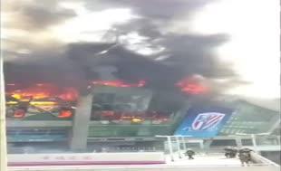 Shenghai Shenhua'ya yangın şoku