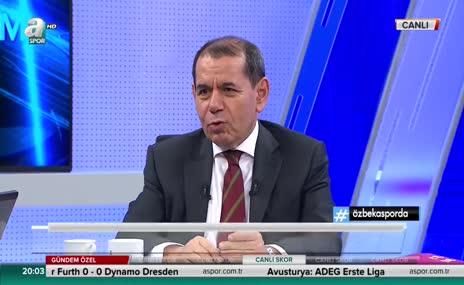 Dursun Özbek: Beşiktaş'ın elenmesine üzüldüm