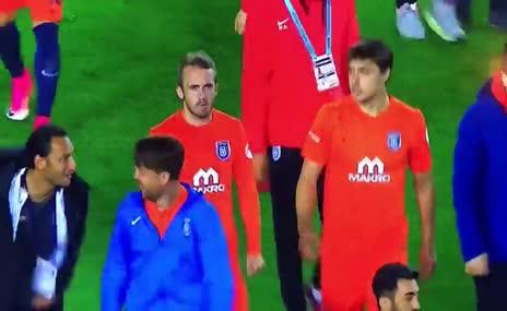 Başakşehirli futbolculardan Volkan Demirel taklidi