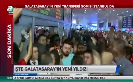 Galatasaray'ın yeni transferi Gomis İstanbul'da