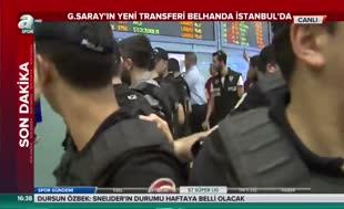 Belhanda, İstanbul'a geldi