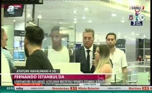 Galatasaray'ın yeni transferi Fernando İstanbul'da!