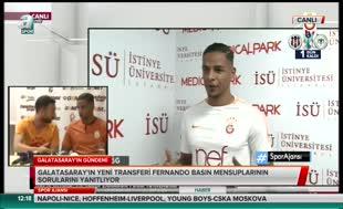 G.Saray'ın yeni transferi Fernando'dan Denayer müjdesi