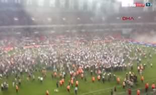 Süper Kupa maçında yaşananlar taraftar kamerasına yansıdı