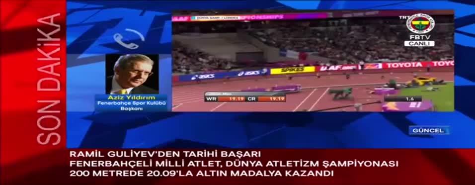 Aziz Yıldırım, Guliyev'in şampiyonluğu sonrası duygulandı