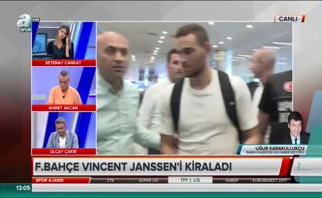 F.Bahçe'nin golcüsü Janssen İstanbul'a geldi