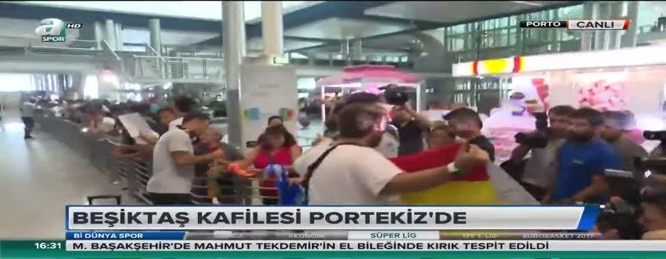 Beşiktaş'a Porto'ya vardı! Yıldızlara büyük ilgi